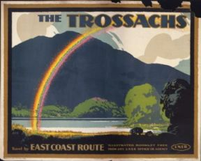 Vintage Rail poster - LNER travel by east coast route